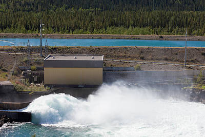 Uncle Sam Posters - Hydro power station dam open gate spillway water by Stephan Pietzko