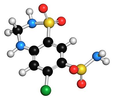 Hydrochlorothiazide Diuretic Drug Art Print