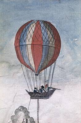Hydrogen Balloon For A Military Use Art Print by Everett