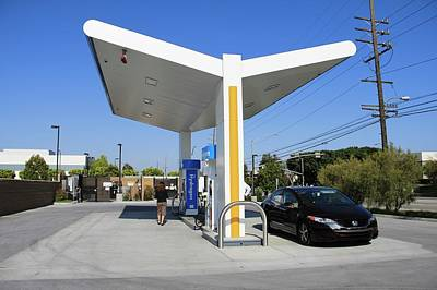 Petrol Green Photograph - Hydrogen Fuelling Station by Michael Penev/us Department Of Energy
