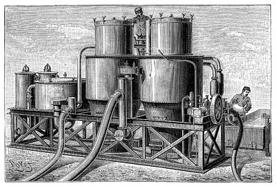 Hydrogen Gas Production Apparatus Art Print by Science Photo Library