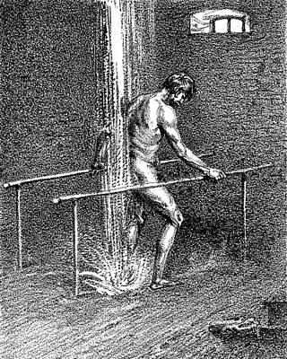Hydrotherapy, Shower, 1860s Art Print