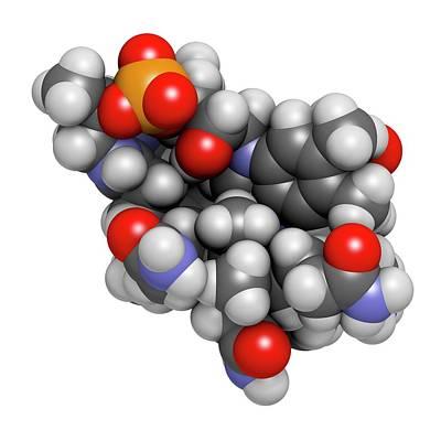 Hydroxocobalamin Vitamin B12 Molecule Art Print by Molekuul