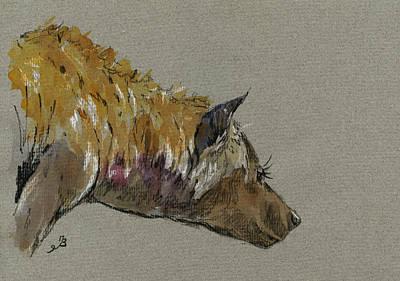 Hyena Head Original by Juan  Bosco