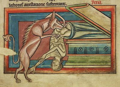 Tomb Photograph - Hyena Robbing A Tomb by British Library