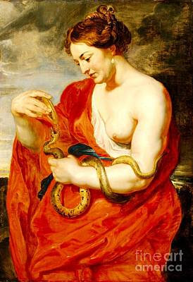 Painting - Hygeia - Goddess Of Health by Pg Reproductions