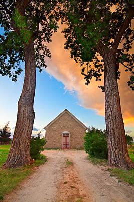 Bo Insogna Photograph - Hygiene Colorado Church Of The Brethren 1880 Sunset by James BO  Insogna