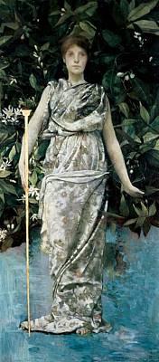 Hymen, 1884-86 Oil & Gold Leaf On Panel Art Print by Maria Oakey Dewing