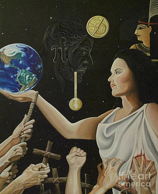 Atheist Painting - Hypatia by April Ward
