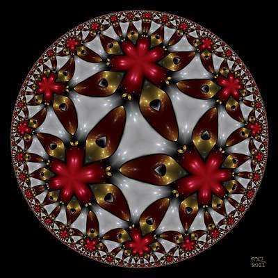 Hyper Jewel I - Hyperbolic Disk Art Print by Manny Lorenzo