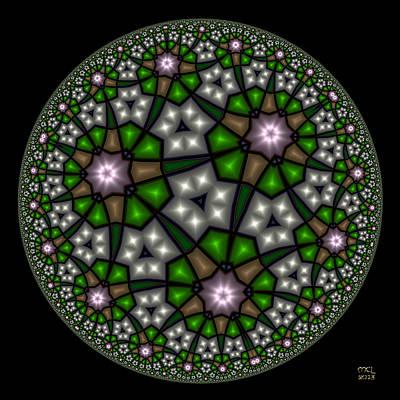 Hyperbolic Neural Net Art Print
