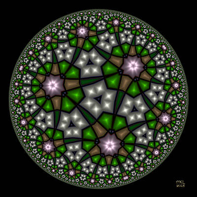 Digital Art - Hyperbolic Neural Net by Manny Lorenzo