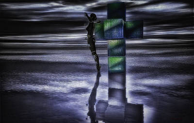 Crucifixion Wall Art - Digital Art - Hypercube Reflections by Ramon Martinez