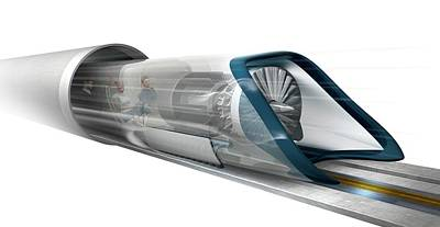 High Speed Photograph - Hyperloop Transport by Claus Lunau