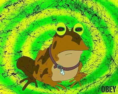 Obey Digital Art - Hypno-toad by Drew Goehring