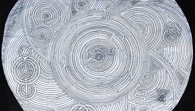 Hypnotic Drawing - Hypnotic Anomaly by Maxwell Hanson
