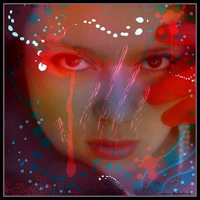 Alluring Mixed Media - Hypnotic Beauty by Irma BACKELANT GALLERIES