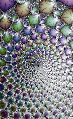 Hypnotising Colorful Vortex Spiral Art Print