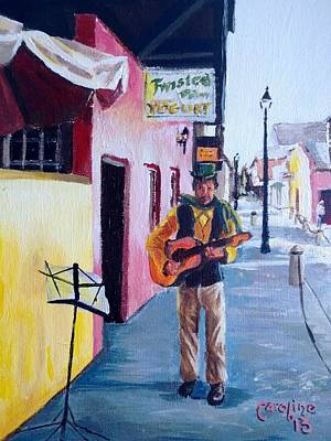 St. Augustine Florida Painting - Hypolita Street Performer by Caroline Conkin