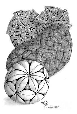 Olivia Drawing - Hyspheria II by Olivia H Keirstead