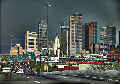 Photograph - I-30 Dallas by Dyle   Warren