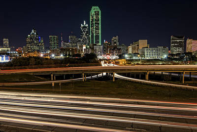 Skylines Royalty-Free and Rights-Managed Images - I-35E Dallas by Rick Berk
