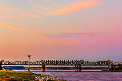 Photograph - I-55 Bridge Over The Mississippi River - Memphis - Tn by Barry Jones