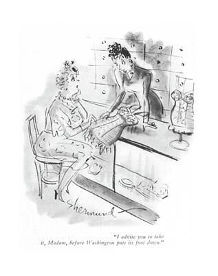 Regulations Drawing - I Advise You To Take by Barbara Shermund