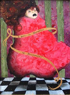 I Am A Bundle Of Neuroses Art Print by Pauline Lim
