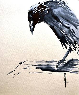 Cawing Painting - I Am A Crow by Beverley Harper Tinsley