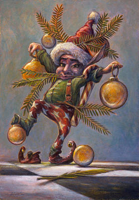 Pixquik Painting - I Am A Tree by Leonard Filgate