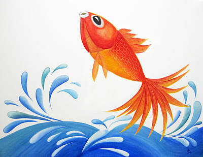 Betta Fish Painting - I Am Back  by Oiyee At Oystudio