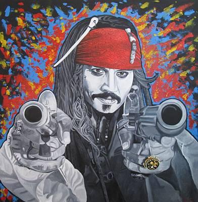 Captain Jack Sparrow Painting - I Am Captain Jack Sparrow by Patrick Killian