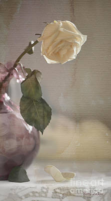 Antique Roses Vase Wall Art - Photograph - I Am Done by Betty LaRue