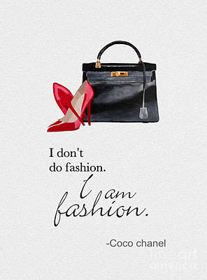 I Am Fashion Art Print by Rebecca Jenkins
