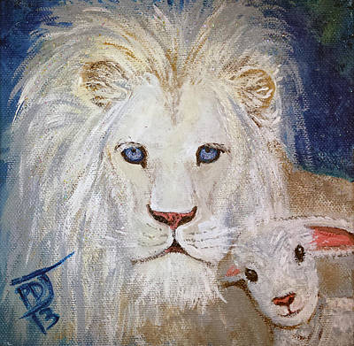 King Of Beasts Painting - I Am Lambchop by Pamorama Jones