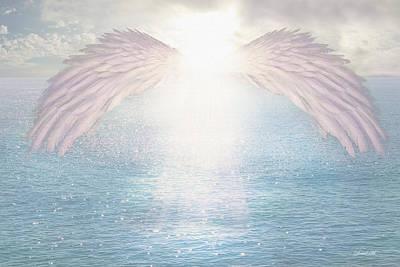 Angel Drawing - I Am Light by David M ( Maclean )