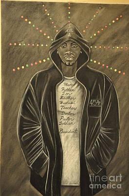 Hoodies Drawing - I Am by Lloyd  Wade