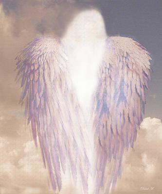 Angel Drawing - I Am Love by David M ( Maclean )