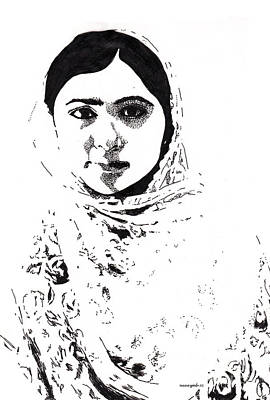 I Am Malala. Art Print