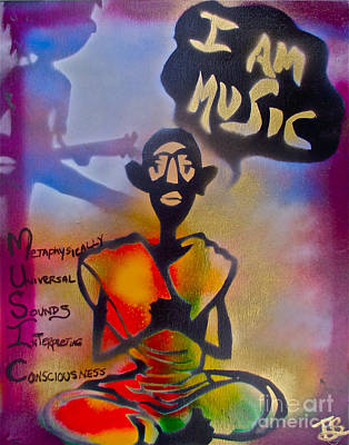 Music Paintings - I am Music #1 by Tony B Conscious