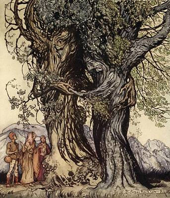 Pitcher Drawing - I Am Old Philemon! Murmured The Oak by Arthur Rackham
