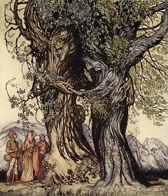 I Am Old Philemon! Murmured The Oak Art Print