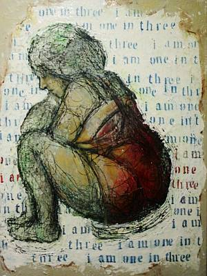 Heavy Woman Painting - I Am One In Three by Jean Cormier