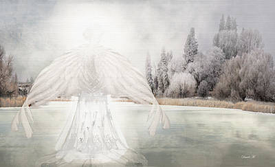 Winter Light Drawing - I Am Peaceful by David M ( Maclean )