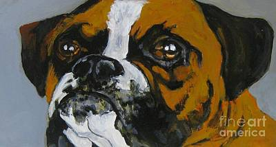 Boxer Painting - I Am Ready To Come In Now by John Malone