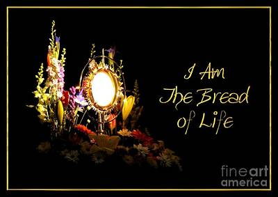 Communion Photograph - I Am The Bread Of Life by Rose Santuci-Sofranko