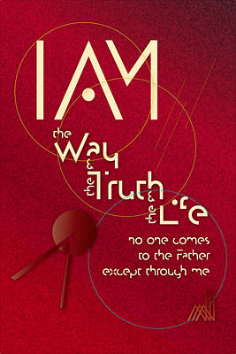I Am The Way Art Print by Chuck Mountain