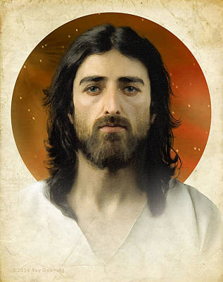 Jesus Face Digital Art - I Am The Way 2 by Ray Downing