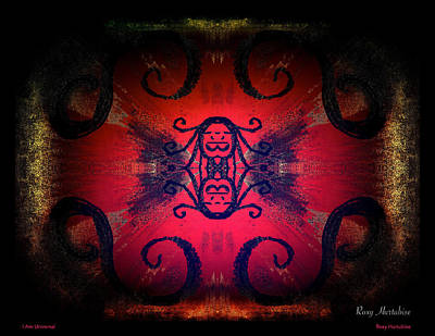 Digital Art - I Am Universal by Roxy Hurtubise